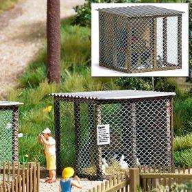 Busch 1582 H0 Stal voor kleine dieren