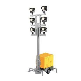Viessmann 1343 H0 Lichtmast op aanhanger, met LED's