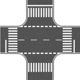 Noch 60712 H0 Kruising asfalt 22x22cm