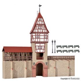 Kibri 38914 H0 Stadsmuur met vakwerktoren in Weil