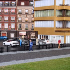 Vollmer 45007 H0 Hekwerk zwart 192cm