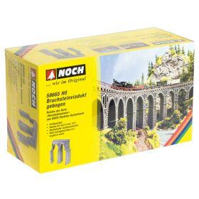 Noch 58665 H0 Stenen viaduct gebogen R2 - hardschuim brug