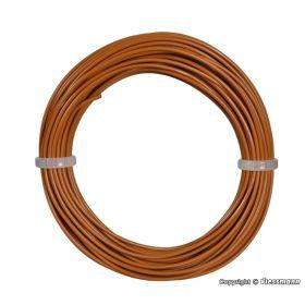 Viessmann 6865 0,14 mm² Electriciteitskabel / Draad bruin 10m