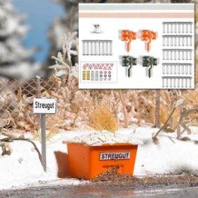 Busch 1167 H0 Accessoires voor winter op straat